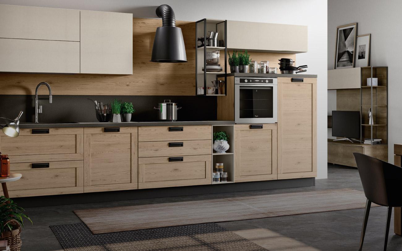 Cucine lineari pensarecasa il bello di arredare - Tipologie di cucine ...