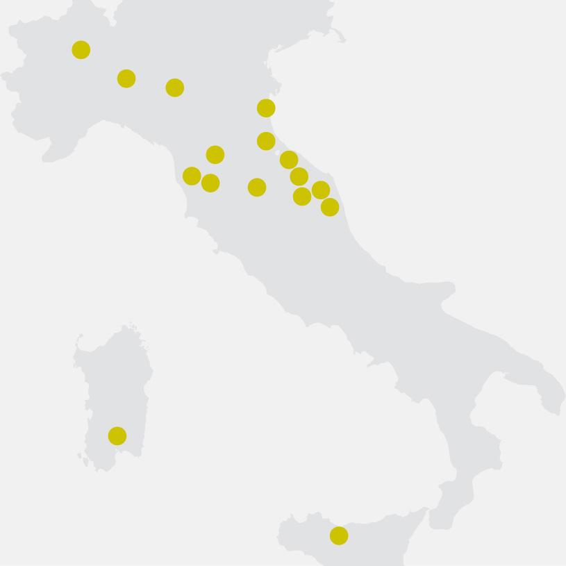 Punti Vendita Pensarecasa - Mappa Italia