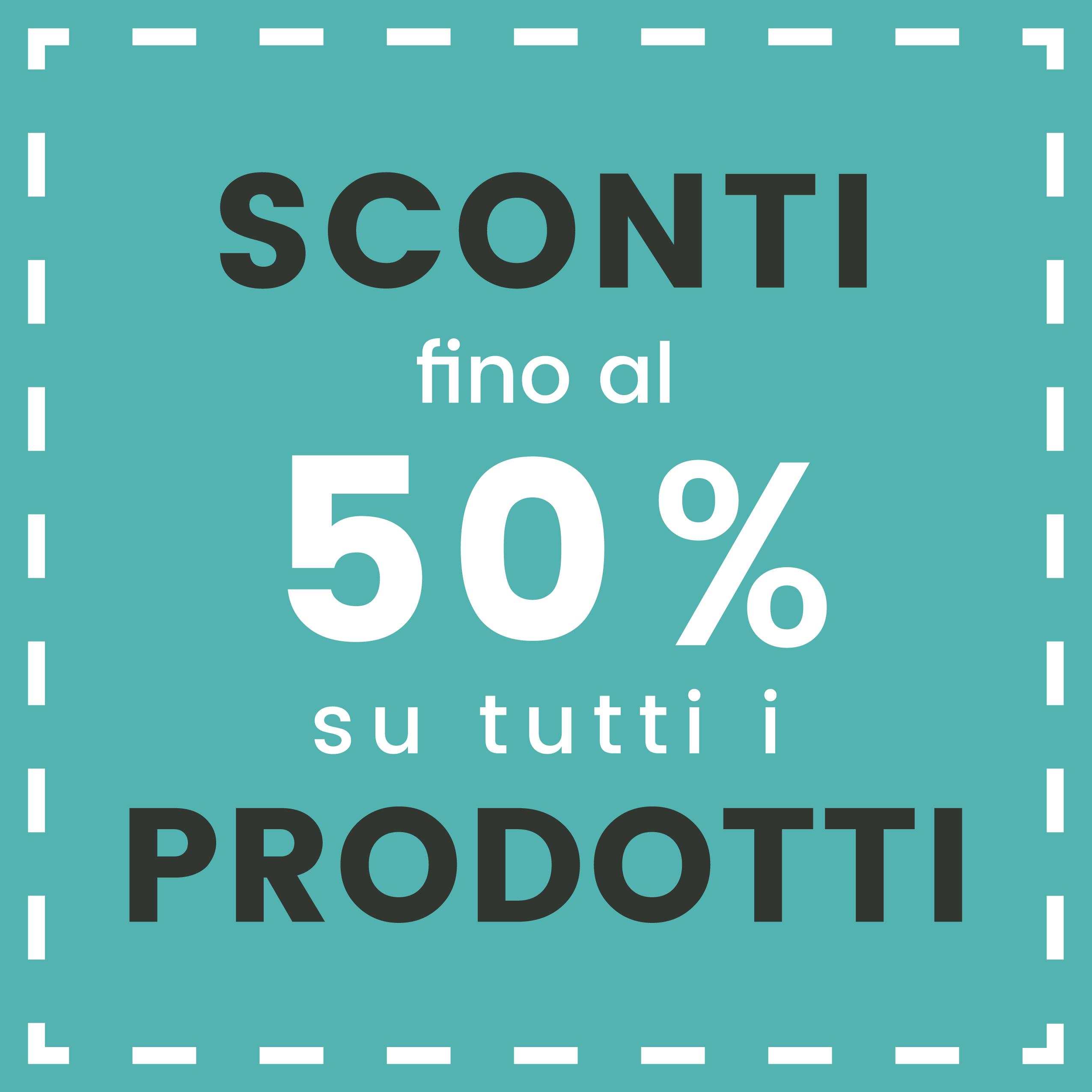 Promozioni Copertina tutto 50%