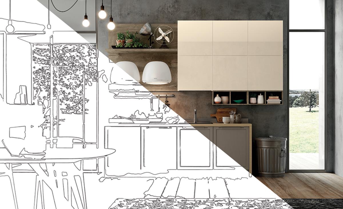 Cucina lineare Copertina
