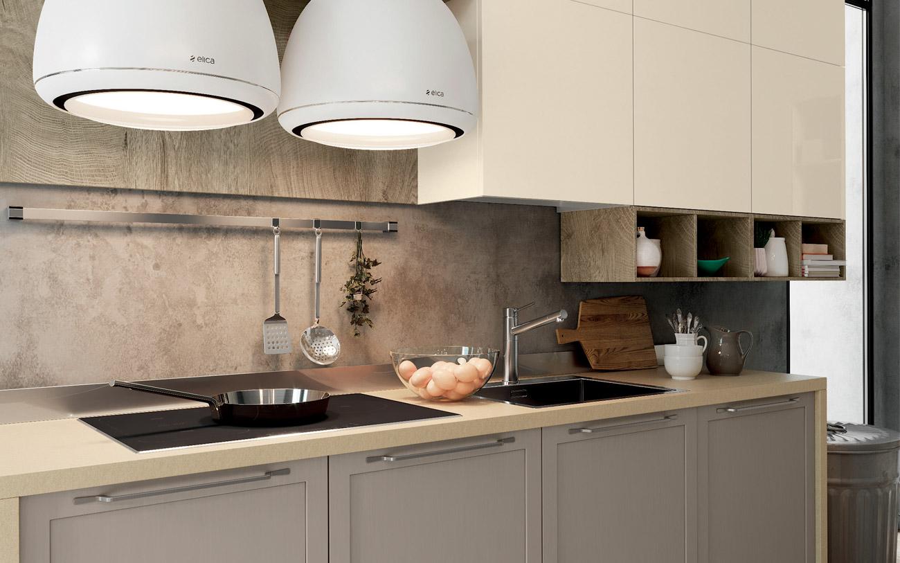 cucine lineari - piano cottura e lavello