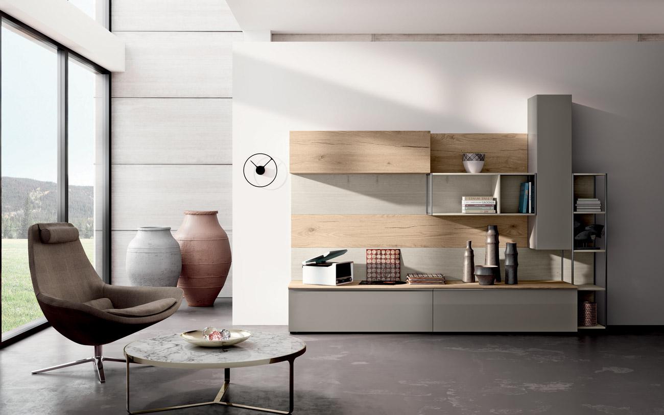 Soggiorno moderno composizione 095 pensarecasa for Composizione soggiorno