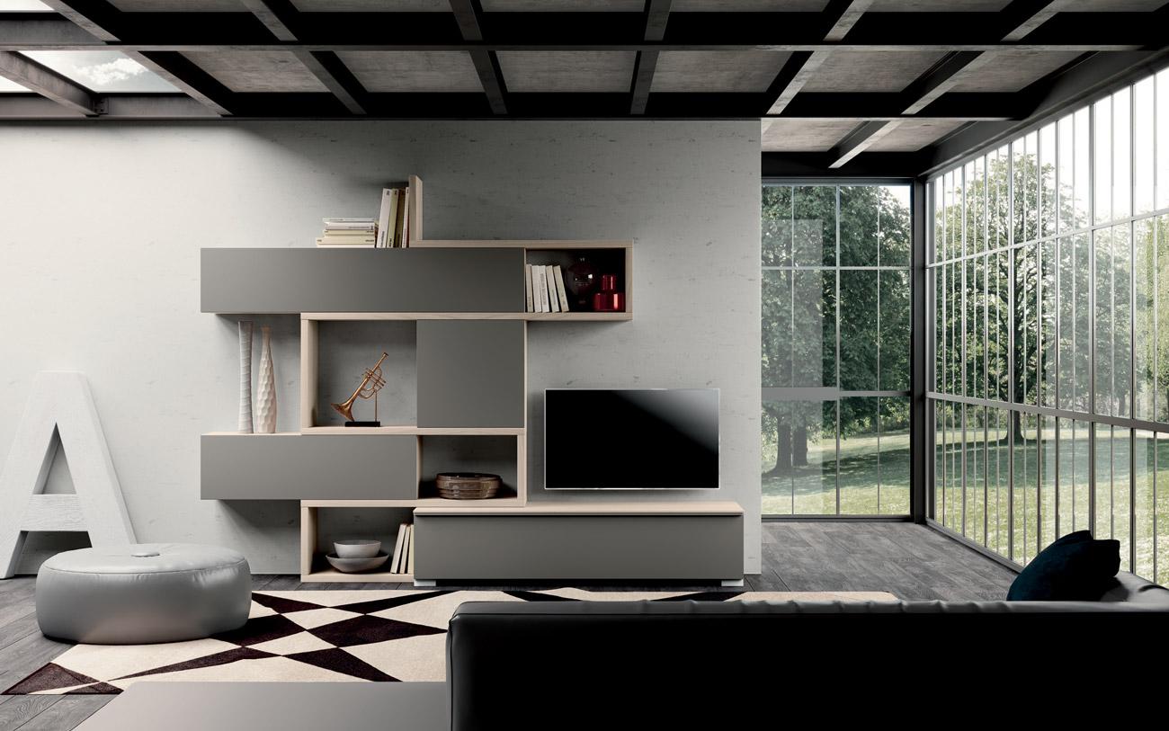 Awesome composizione soggiorno moderno ideas idee for Castellucci arredamenti roma