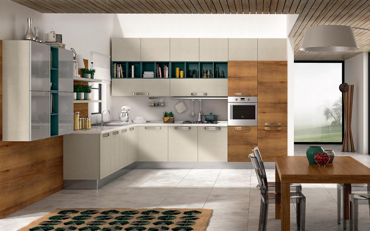 Cucine angolari composizione 0463 pensarecasa - Cucine angolari ...