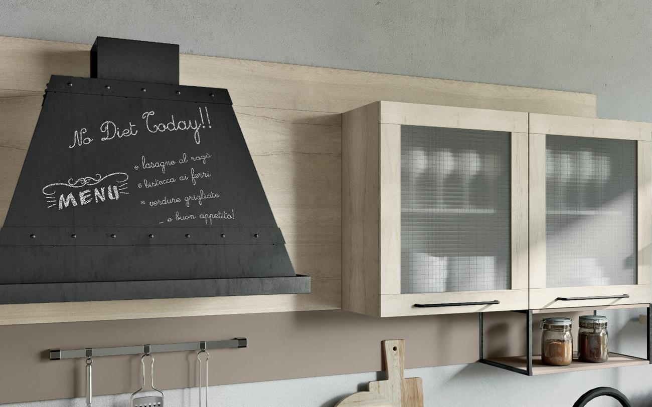 Cucina penisola cappa di design
