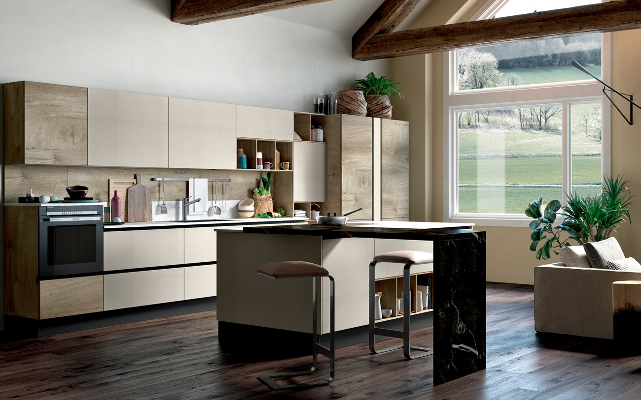 Stunning cucina con isola stile ed eleganza naturale with - Cucine moderne con isola ...