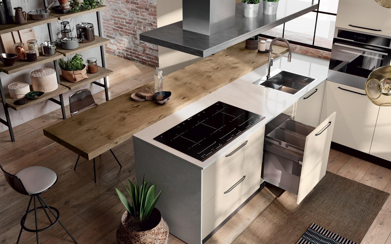 Cucina con isola o cucina con penisola alla ricerca della soluzione ideale - Cucina angolare con penisola ...