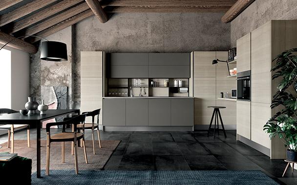 Cucina moderna completa con anta gola home living
