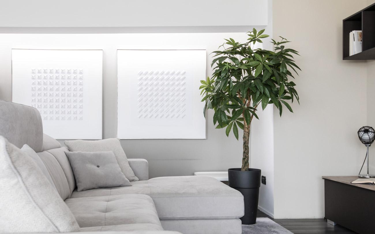 come arredare casa - divano chaise longue grigio