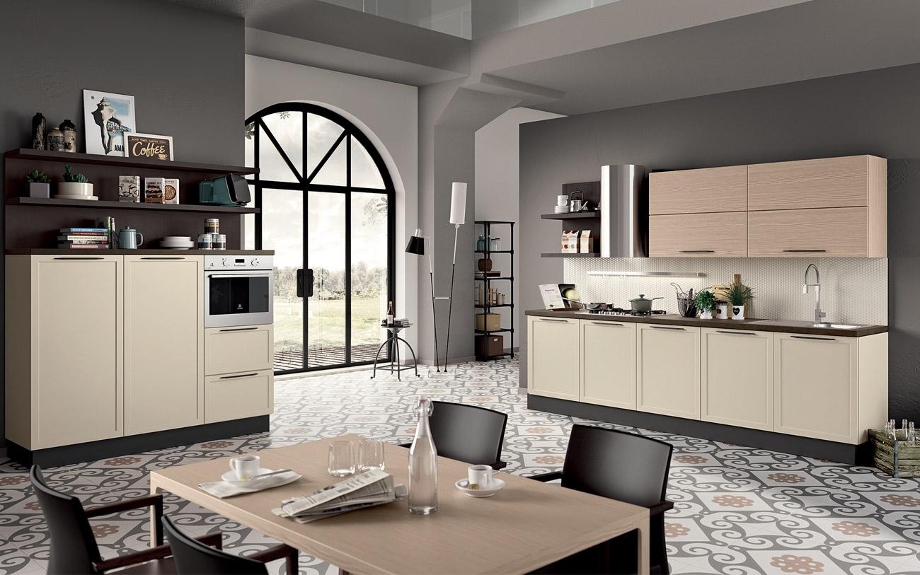 Arredare casa - cucina moderna due lati