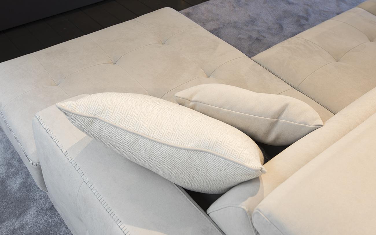 arredare soggiorno piccolo - divano chaise longue