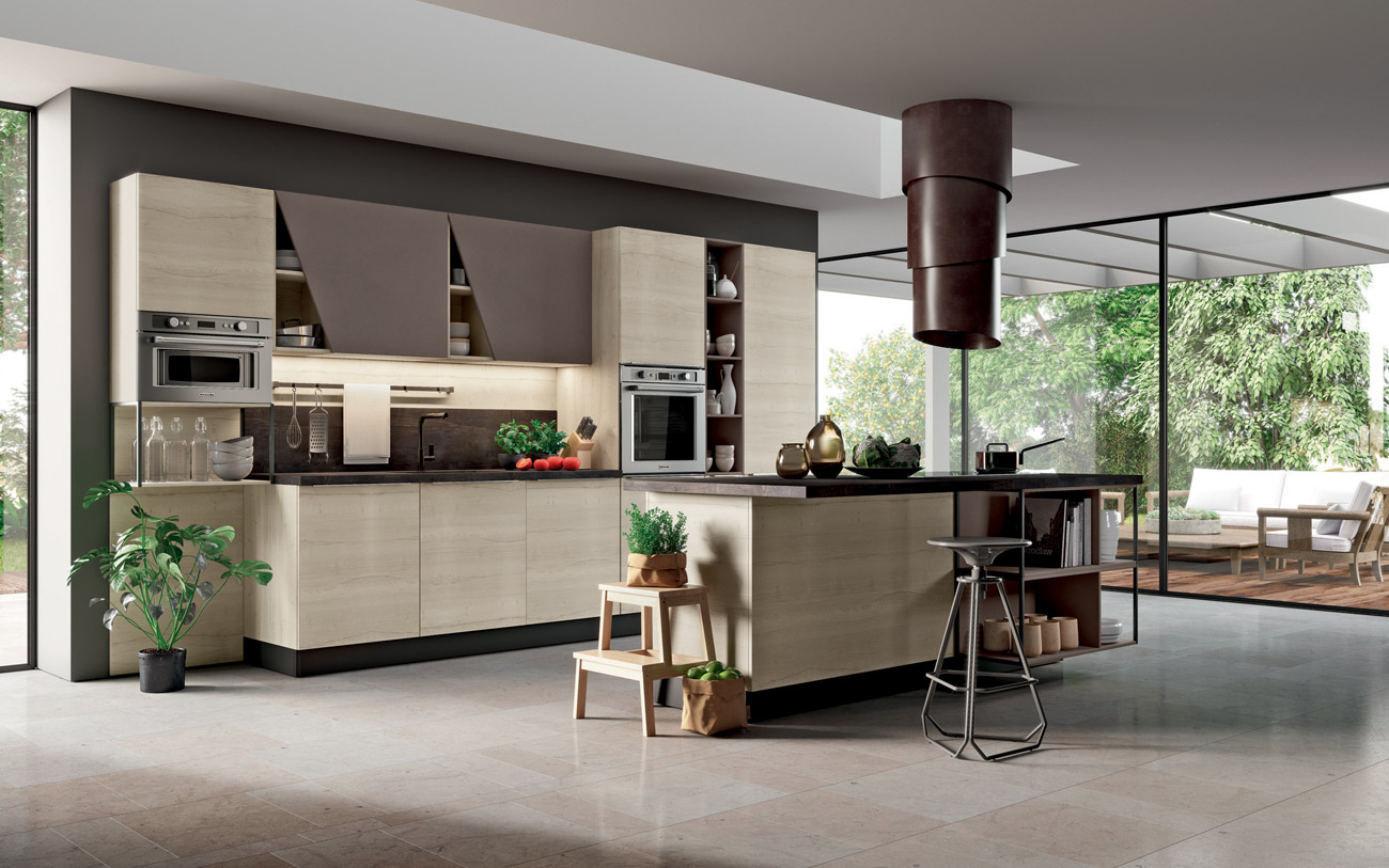 Cucine moderne le tre finiture di tendenza nel 2018 pensarecasa - Cucina moderna con isola ...
