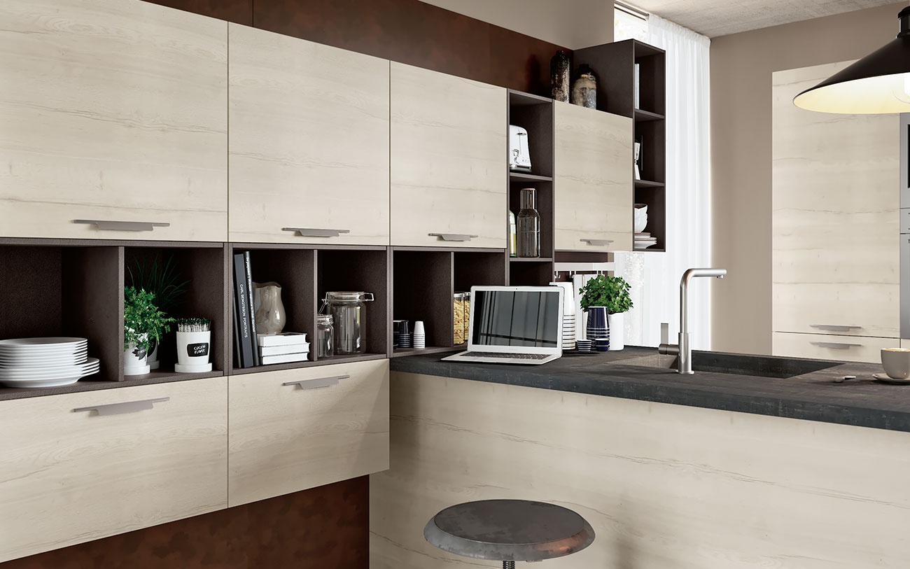 Cucina con penisola due stili a confronto pensarecasa - Cucina con penisola centrale ...