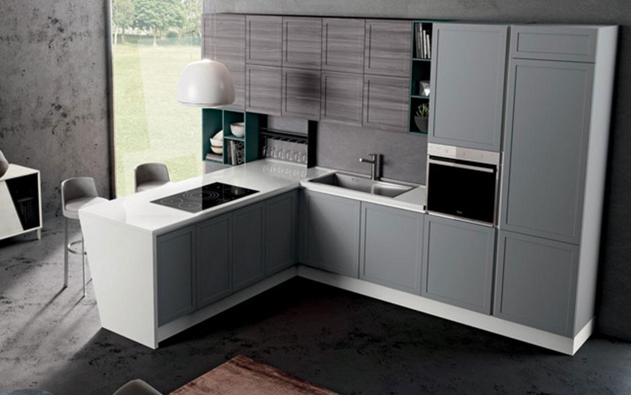 Cucina con penisola due stili a confronto pensarecasa - Altezza penisola cucina ...