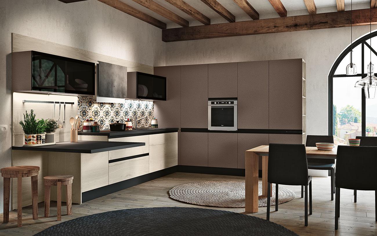 Cucine moderne angolari composizione 0611