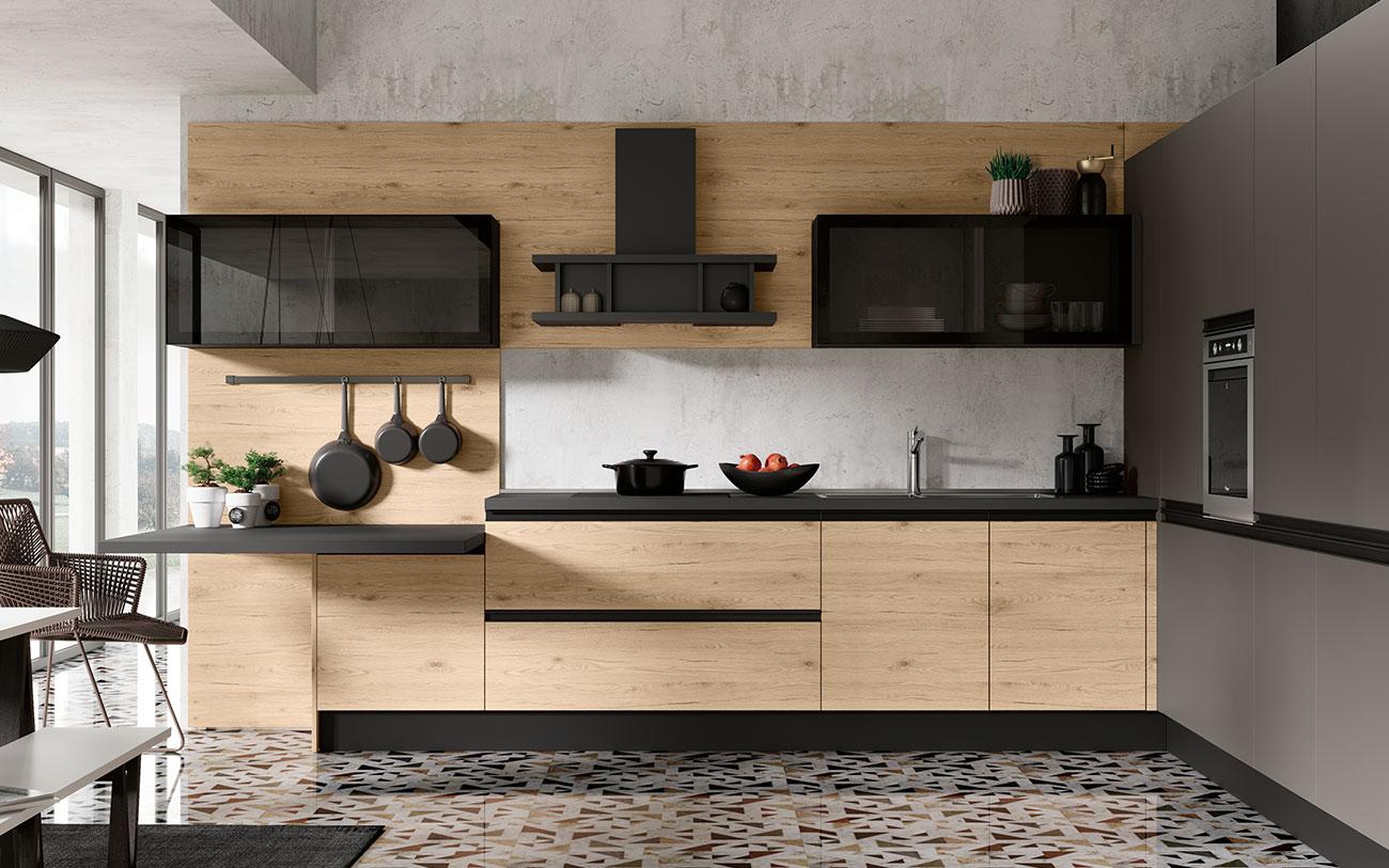 Arredare Cucina moderna anta liscia prima opzione