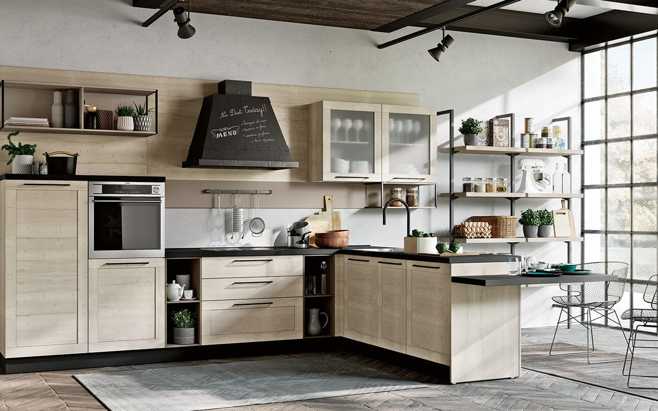 Arredare Cucina moderna anta telaio seconda opzione