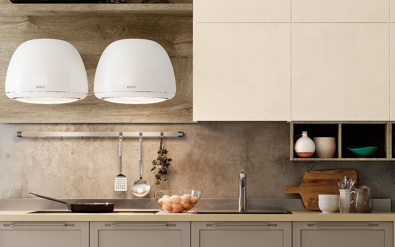 Arredare Cucina moderna con cappa elica
