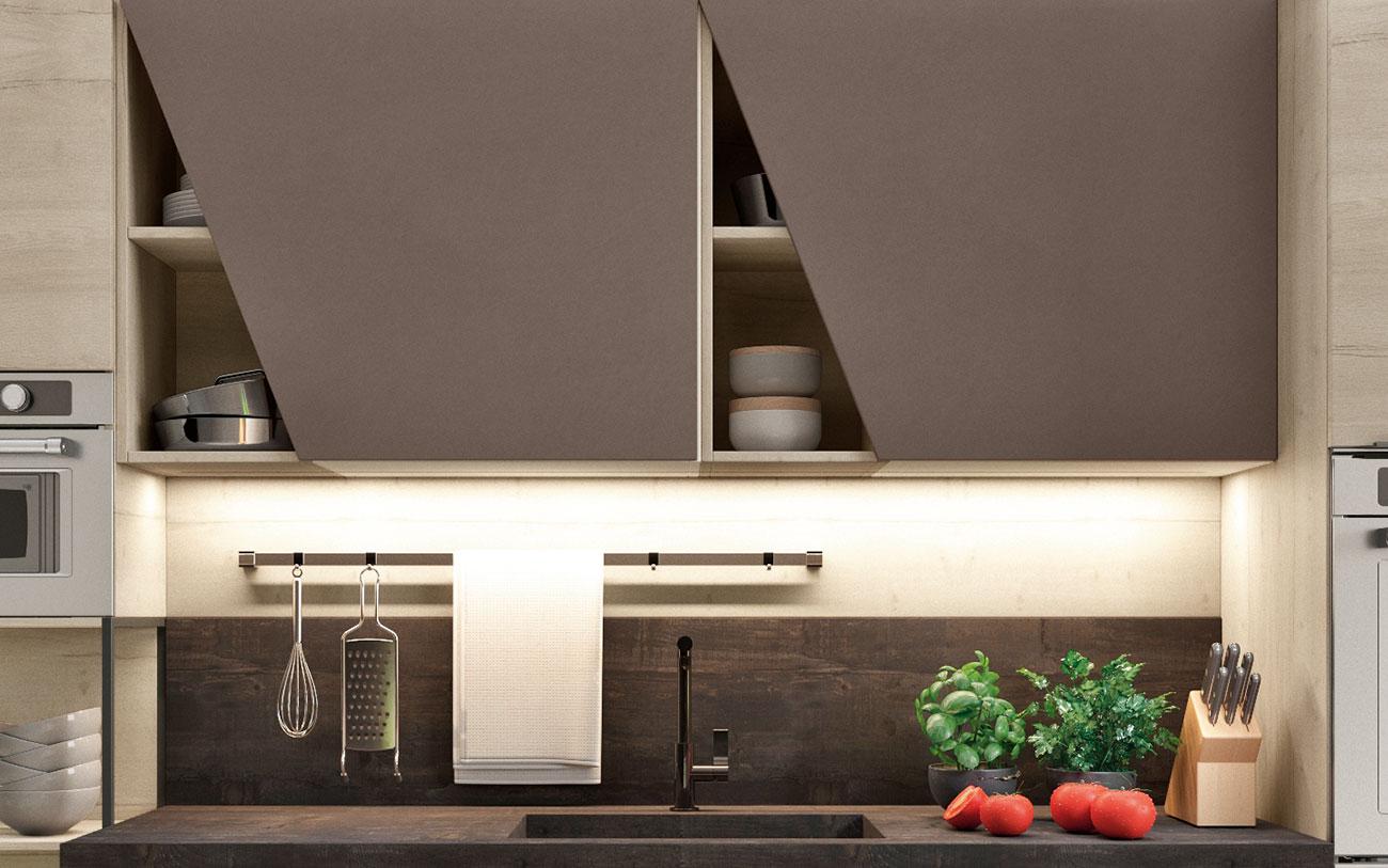Cucine moderne con finitura materico