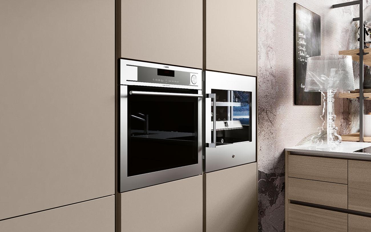 Arredare Cucina moderne con forno incassato