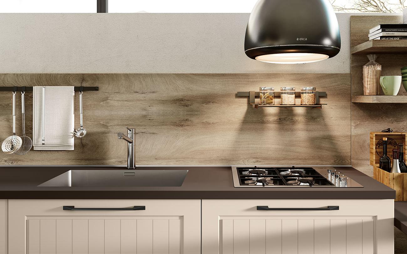 Arredare la Cucina guida completa all'acquisto moderne con lavello e piano cottura stesso lato