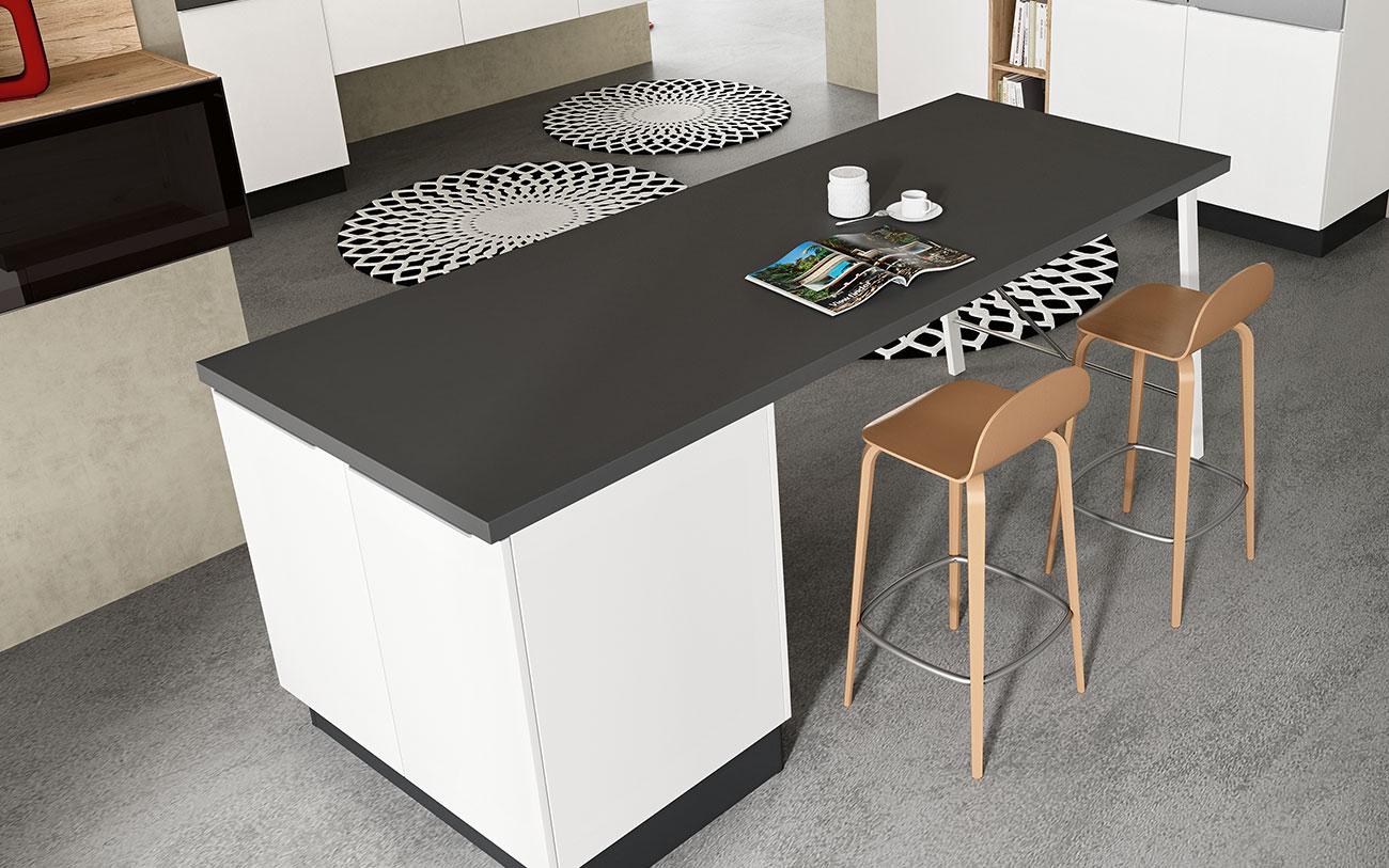 Arredare Cucina moderne con piano di lavoro libero