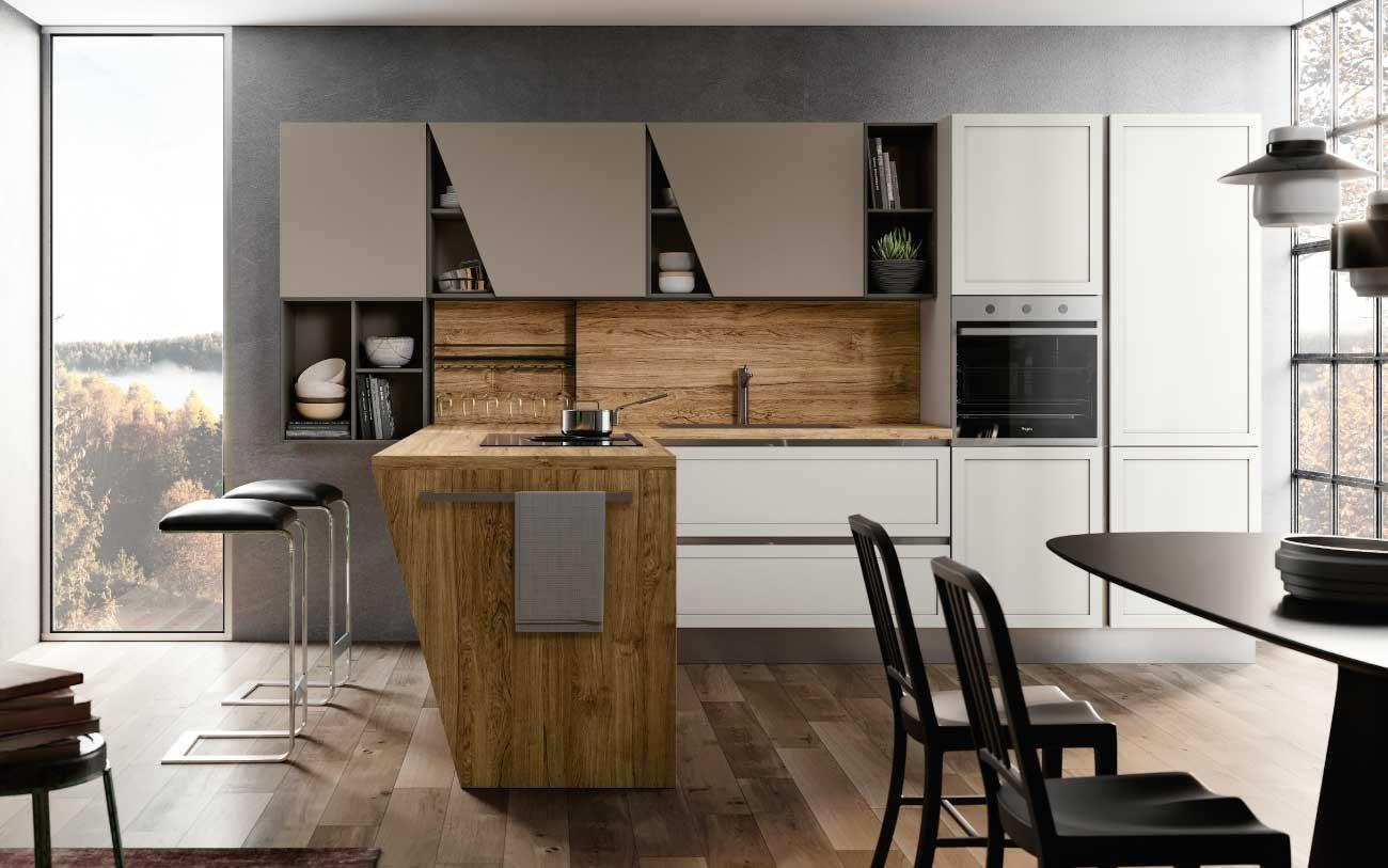 Cucina moderna con penisola dm608 pensarecasa - Cucina moderna con penisola ...