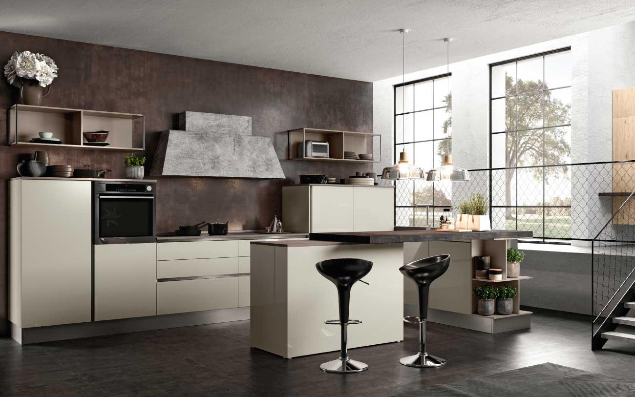 Cucina moderna romantica design