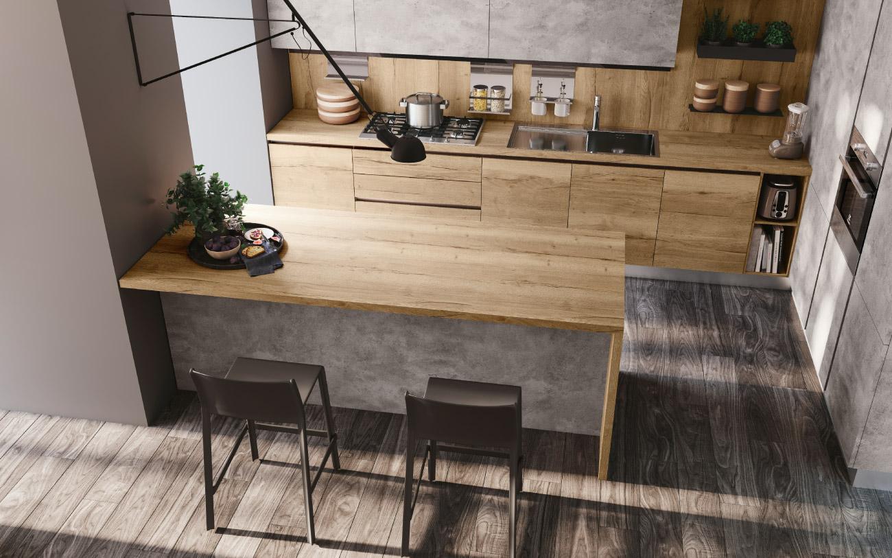 Cucina open space Pensarecasa - immagine