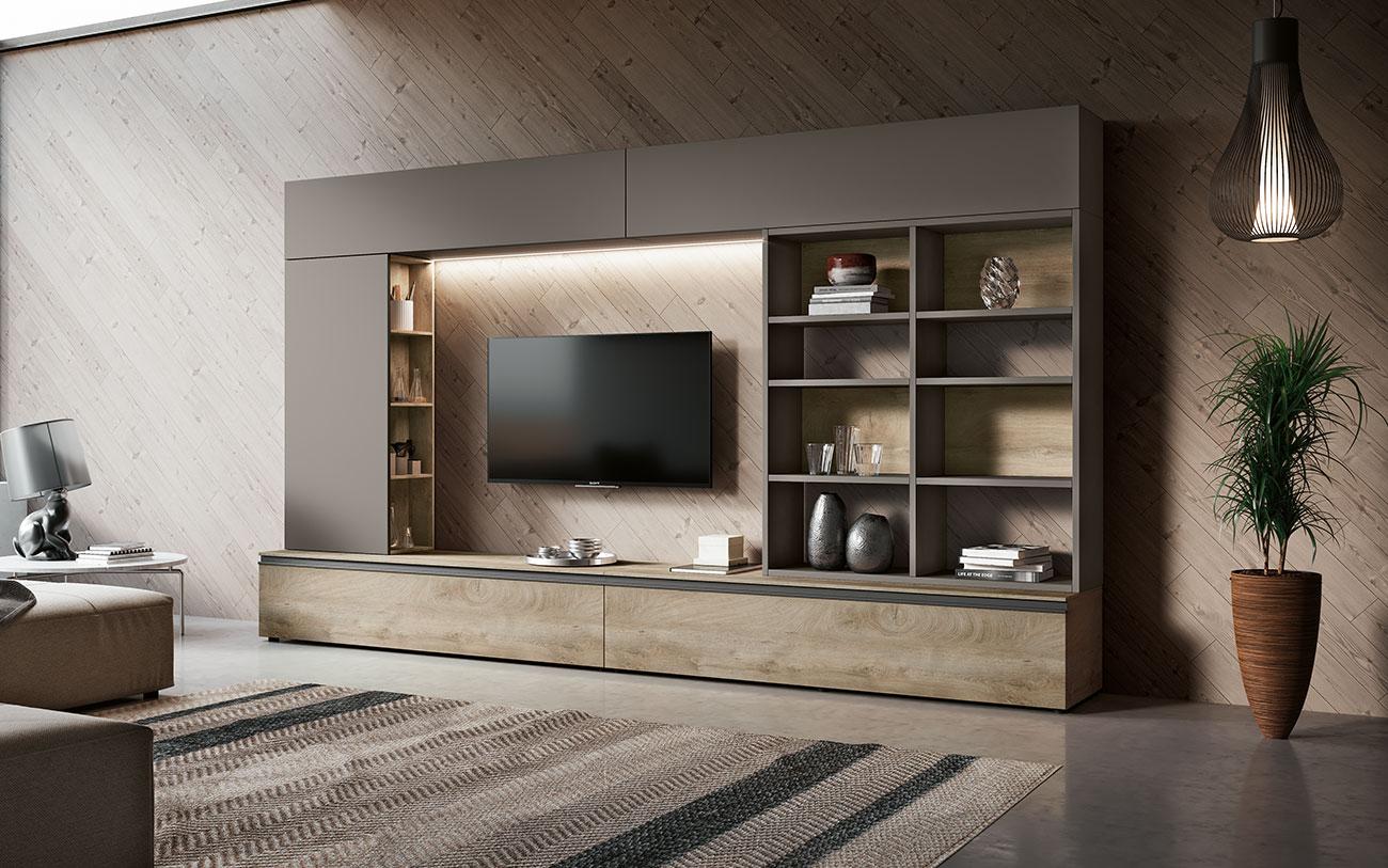 Soggiorni moderni qsm304 pensarecasa for Mobili soggiorno moderni