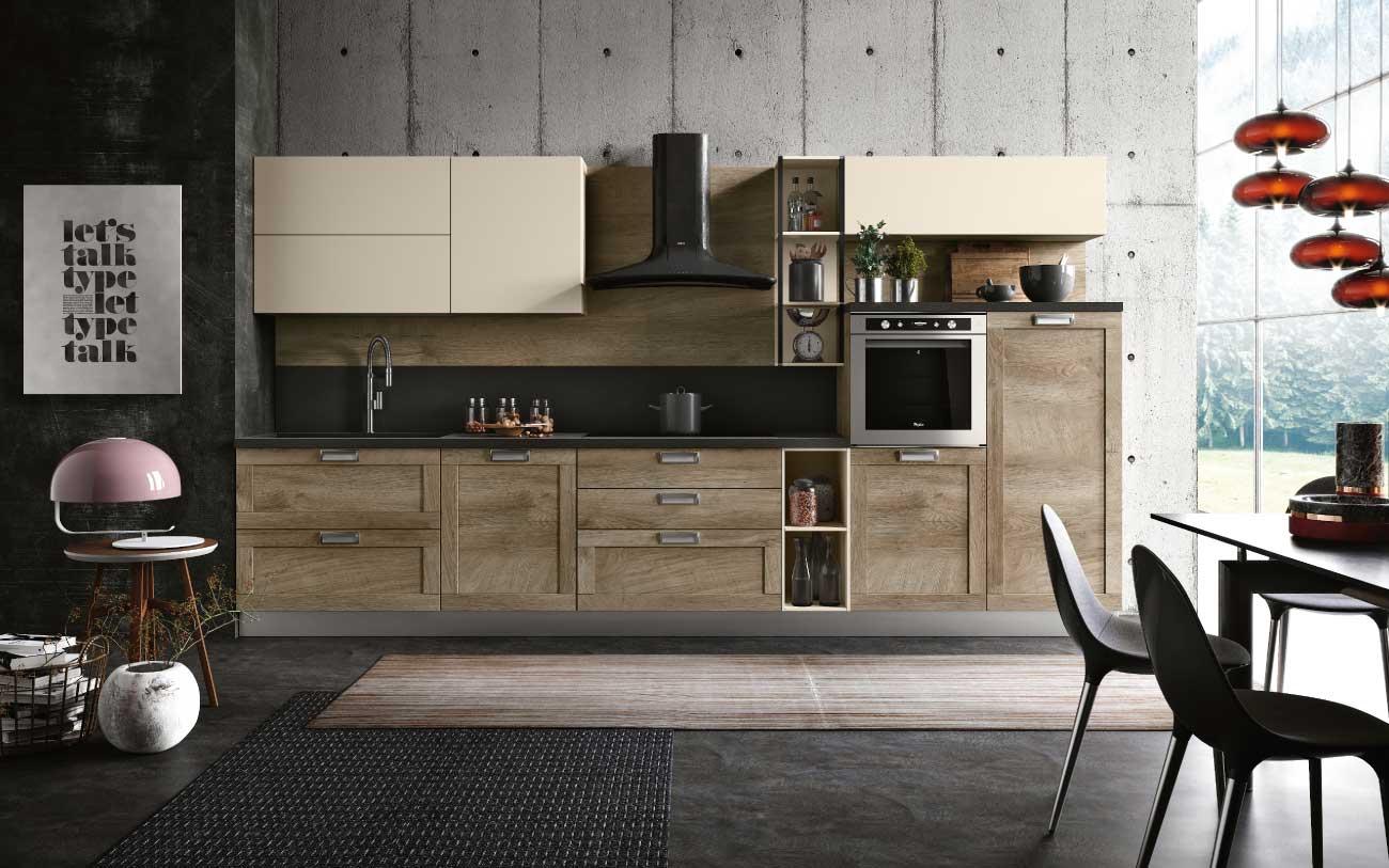 open space moderno cucina telaio