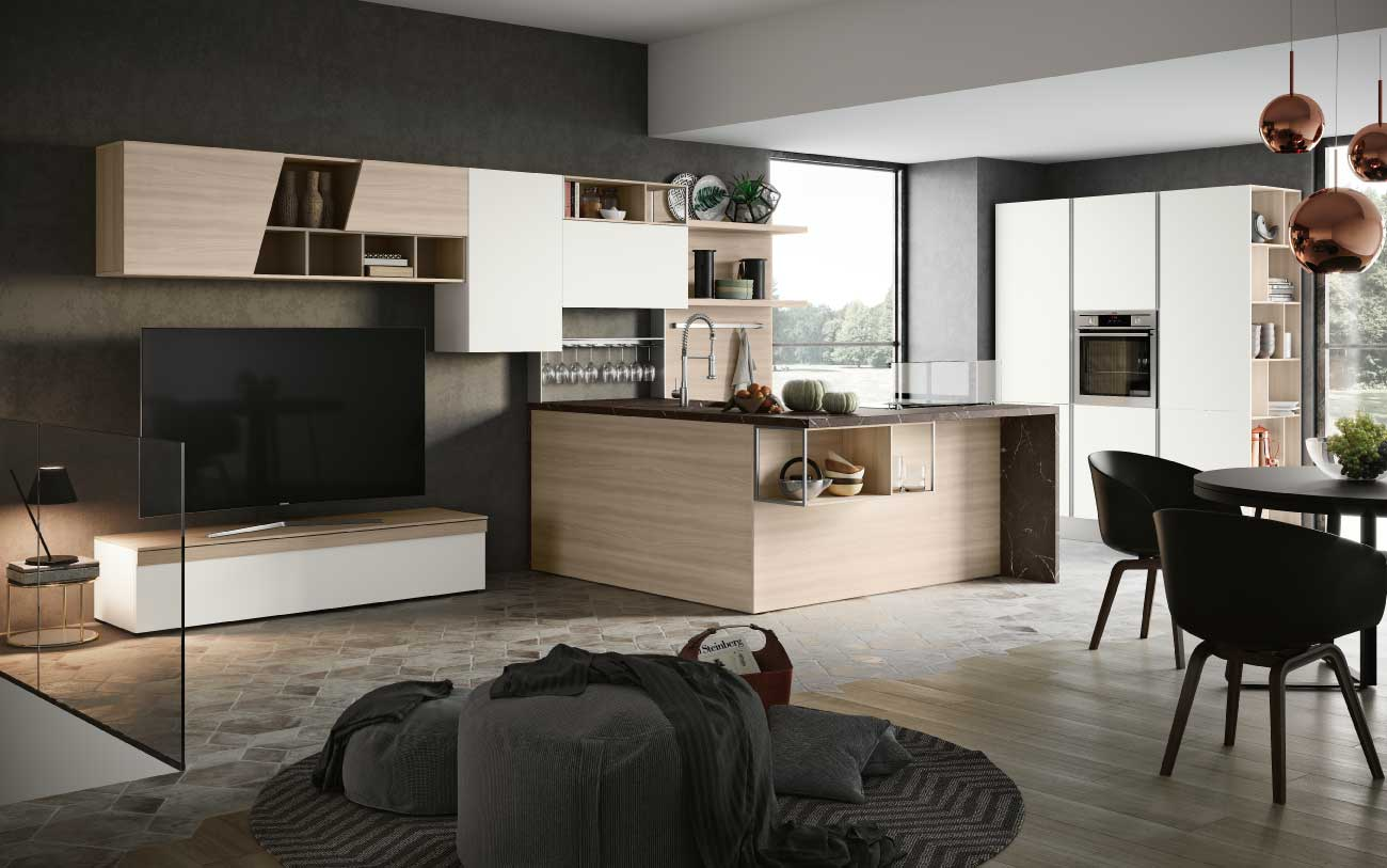 Cucine Moderne Con Open Space.Come Arredare Un Open Space Moderno Pensarecasa