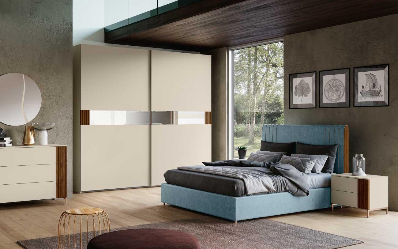 Camera da letto moderna curata e multifunzionale - Camera da letto moderna completa ...