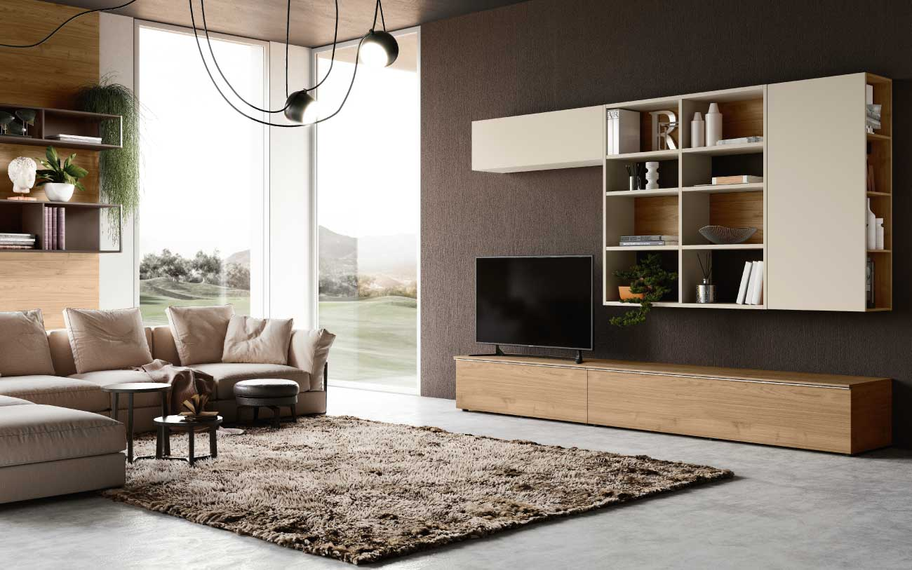 camera da letto soggiorno moderno
