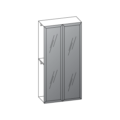 2 ante L120-ante-telaio-con-vetro-grigio