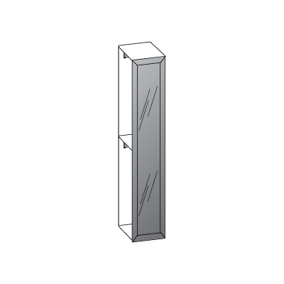 1 anta L45-anta-telaio-con-vetro-grigio