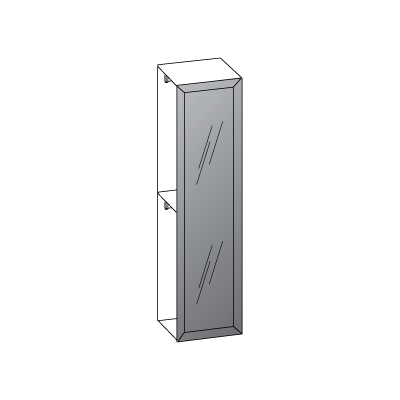 1 anta L60-anta-telaio-con-vetro-grigio