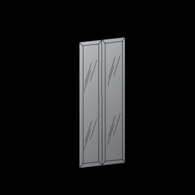 2 ante L90-ante-telaio-con-vetro-grigio