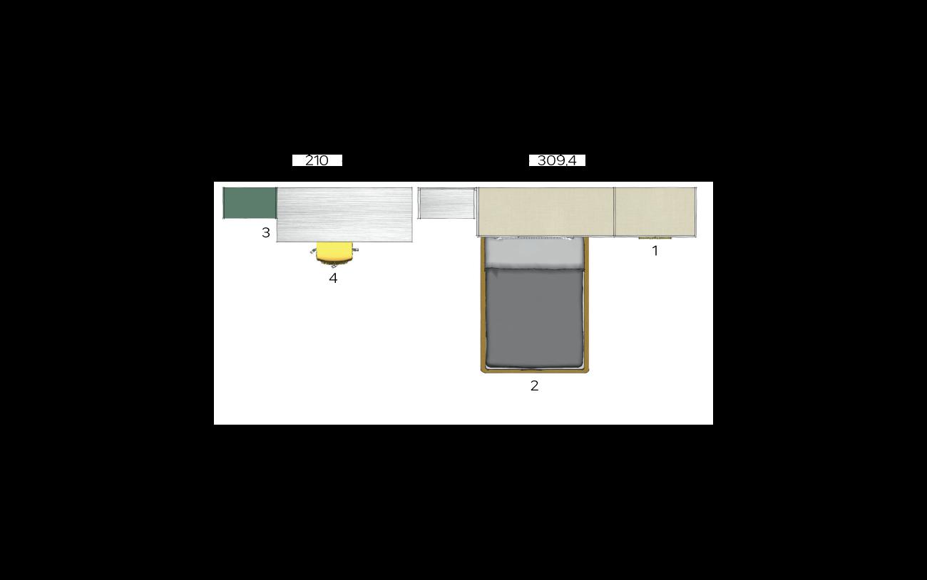 Planimetria cameretta a ponte VCJ004