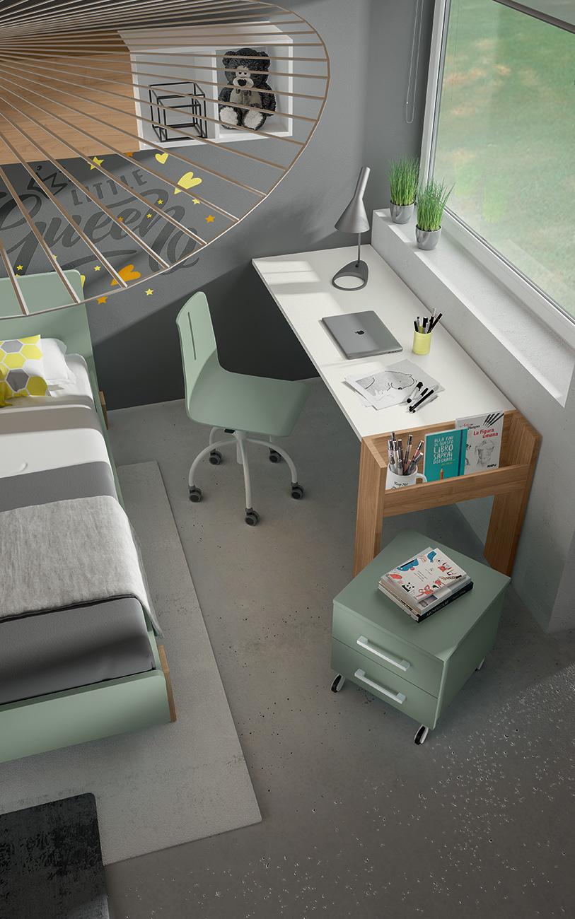 Cameretta VCJ011 particolare angolo studio