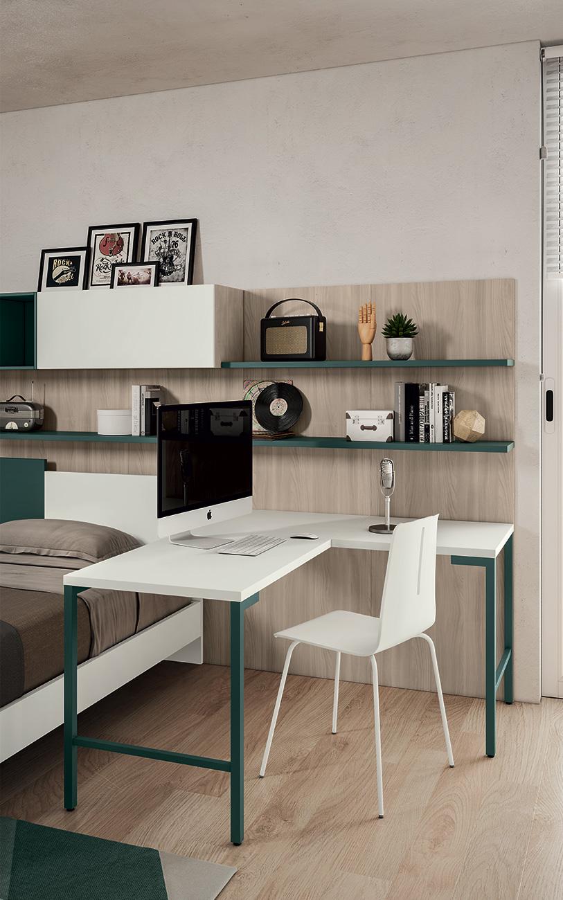 Cameretta VCJ012 particolare angolo home office
