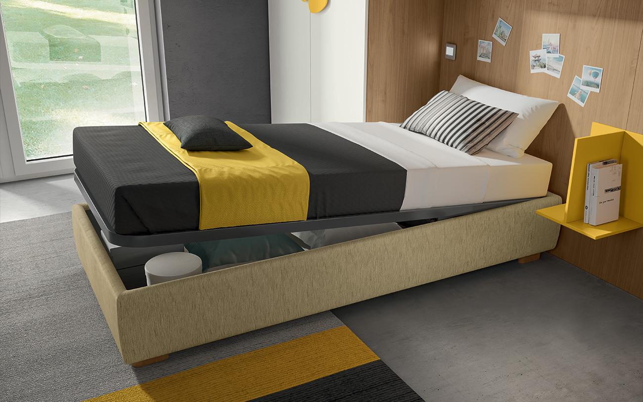 Cameretta a ponte VCJ013 particolare letto contenitore