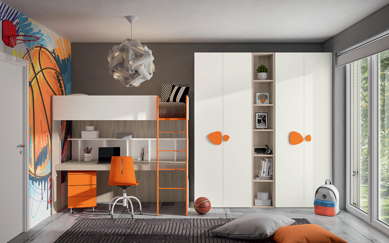 Idee Per Camere Ragazzi camerette salvaspazio | come combinare design e praticità