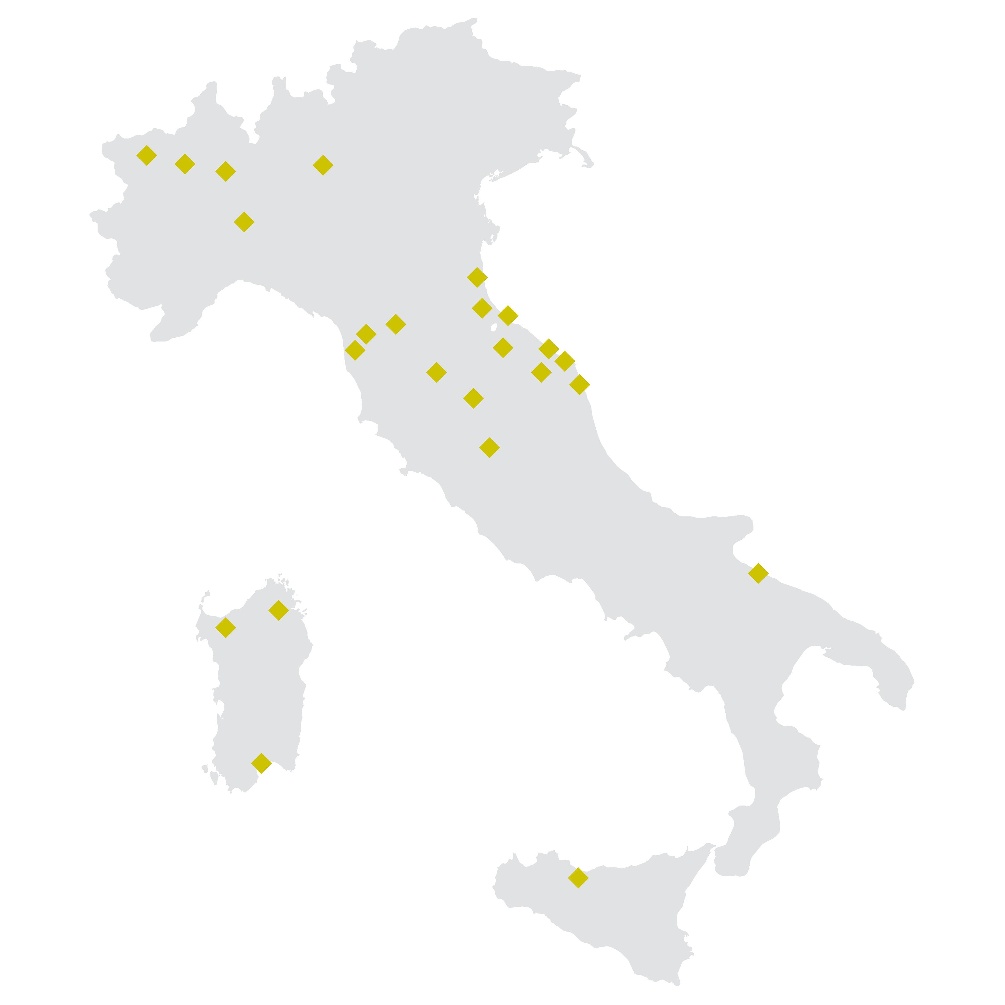 Mappa punti vendita pensarecasa