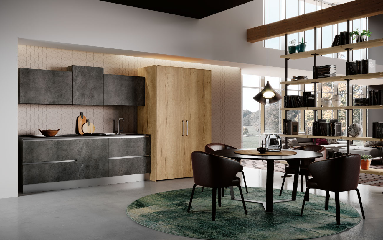 DM0663 cucina lineare cucina living