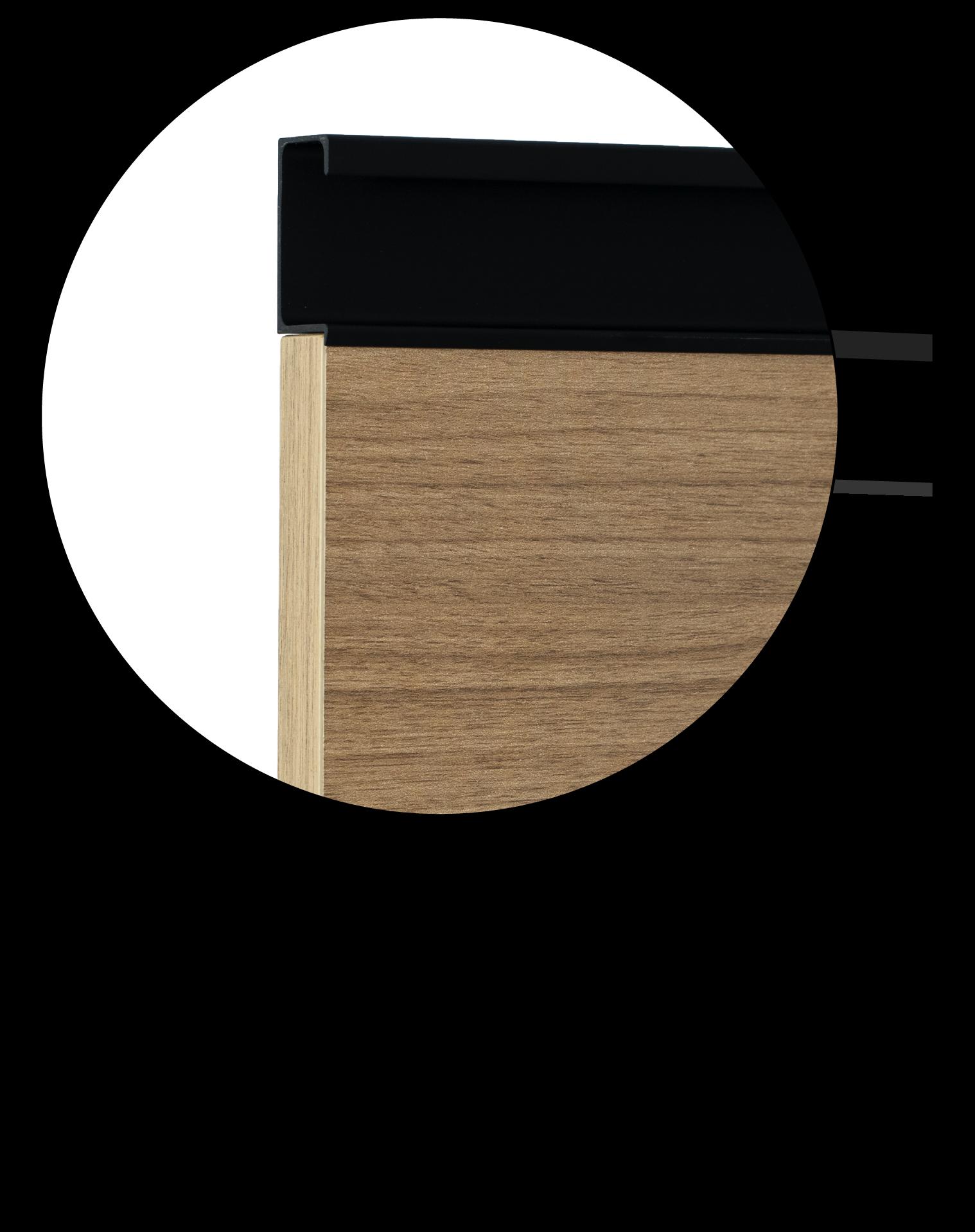Anta maniglia integrata legno nobilitato