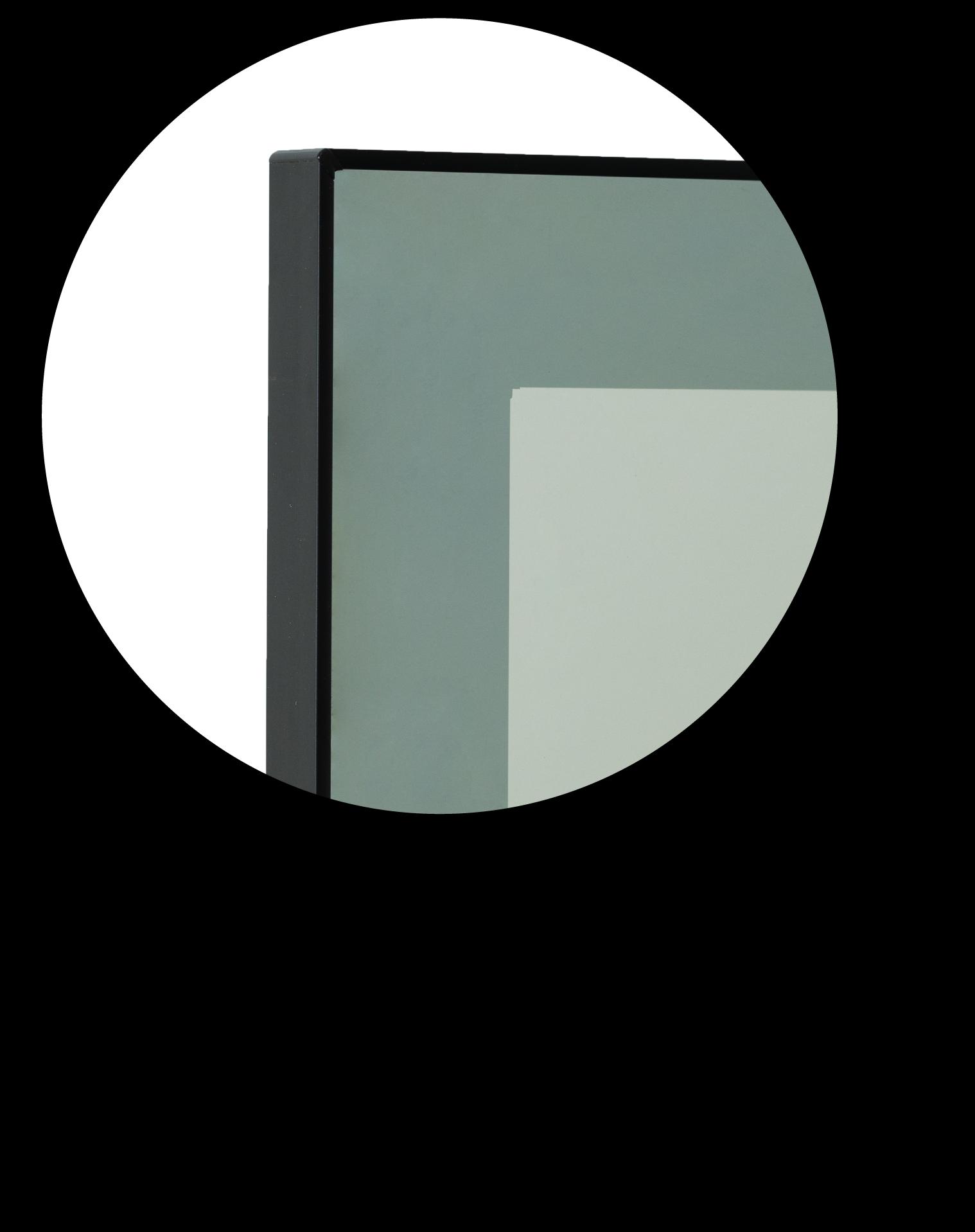 Anta alluminio nero vetro fumè