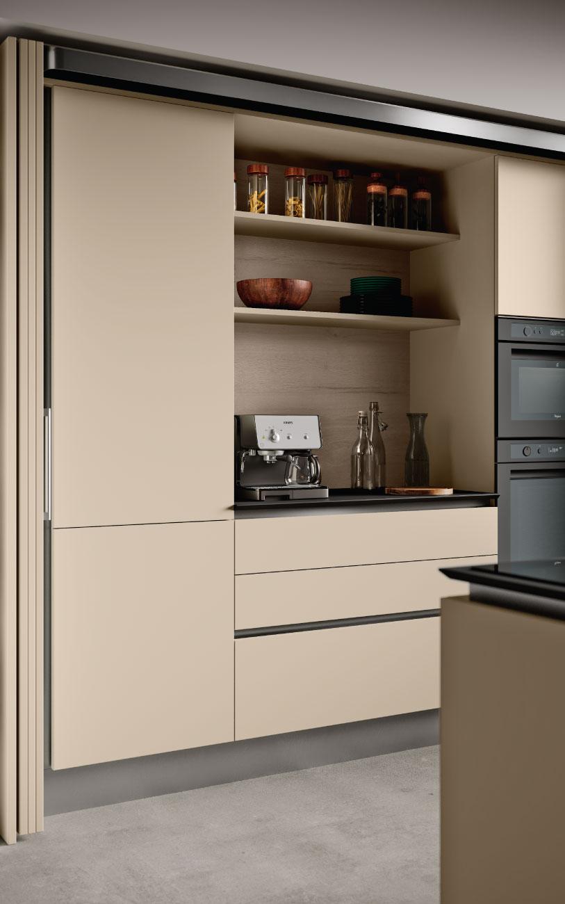 DM0671 immagine cucina con isola particolare complanare