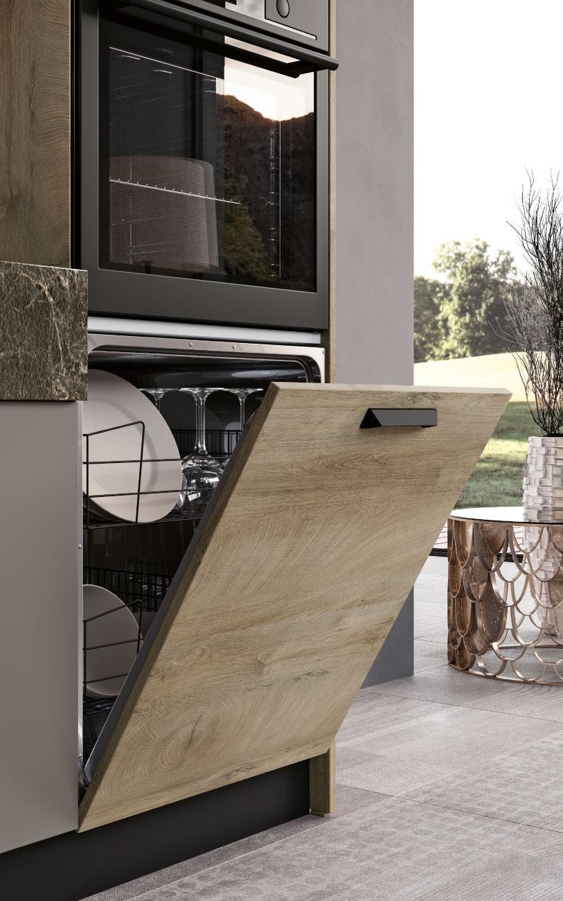 DM0659 cucina lineare particolare lavastoviglie