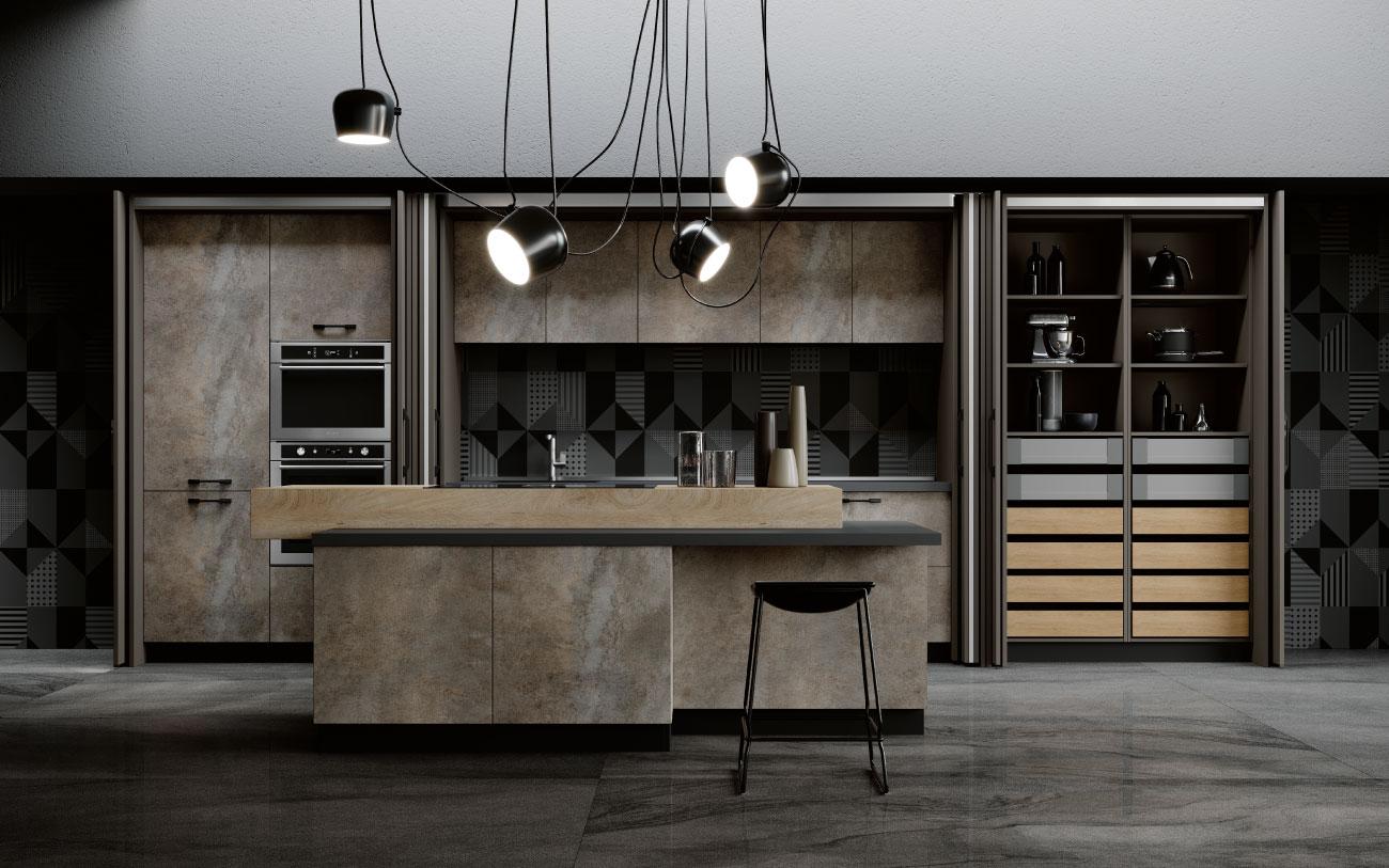 DM0672 immagine cucina con isola complanare